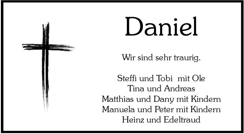 Anzeige von  Daniel Pilgrim