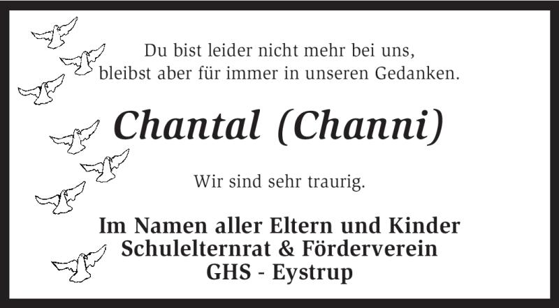 Traueranzeige für Chantal Koldewei vom 19.10.2012 aus KRZ
