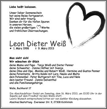 Profilbild von Leon Dieter Weiß