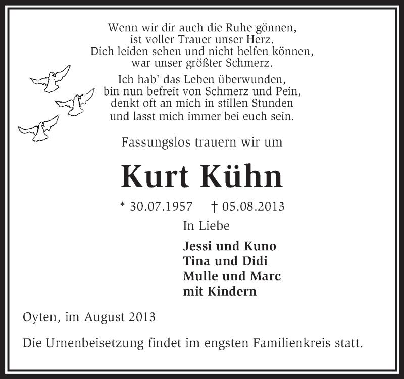 Anzeige von  Kurt Kühn