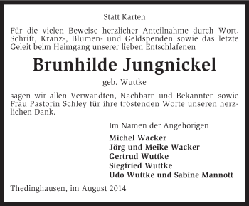 Zur Gedenkseite von Brunhilde