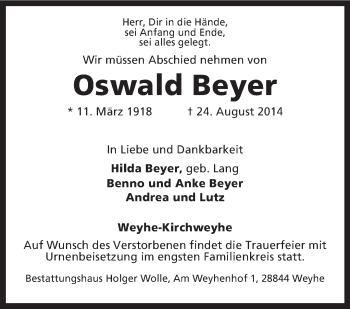 Zur Gedenkseite von Oswald