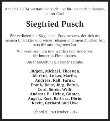 Zur Gedenkseite von Siegfried