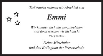 Zur Gedenkseite von Emmi