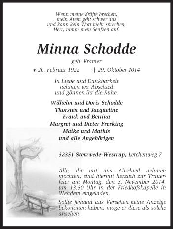 Zur Gedenkseite von Minna