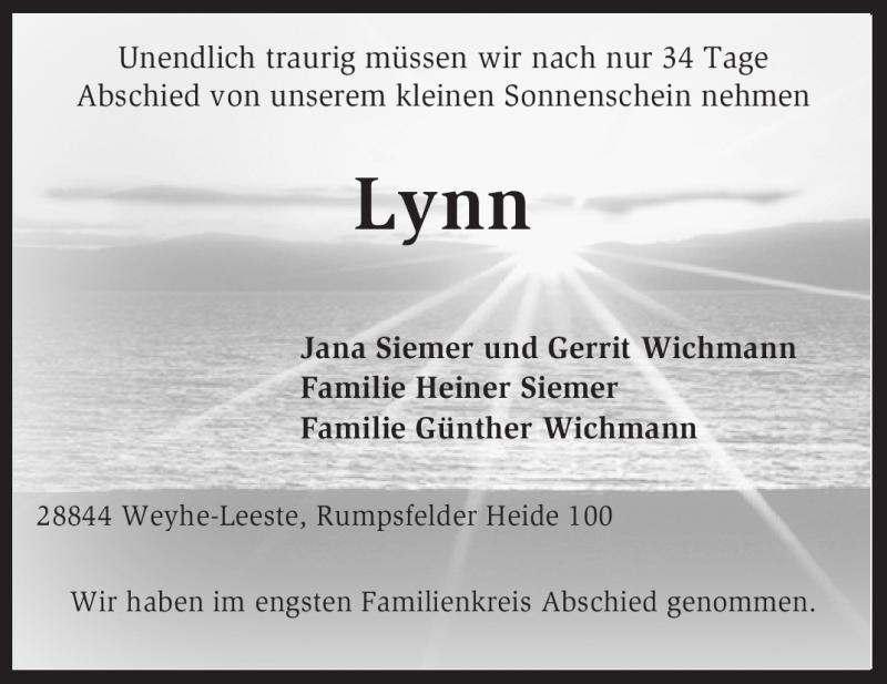 Anzeige von  Lynn