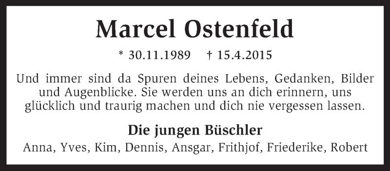 Anzeige von  Marcel Ostenfeld