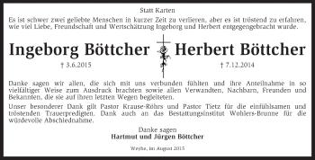 Zur Gedenkseite von Ingeborg ud Herbert