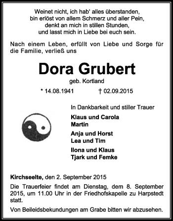 Zur Gedenkseite von Dora