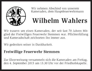 Zur Gedenkseite von Wilhelm