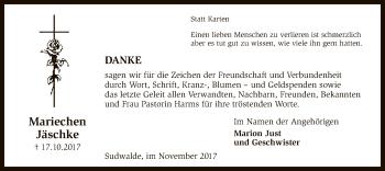 Traueranzeige von Mariechen Jäschke von SYK