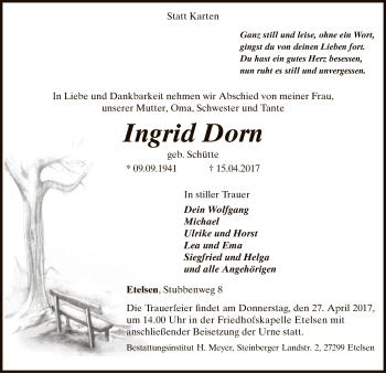 Zur Gedenkseite von Ingrid
