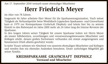 Traueranzeige von Friedrich Meyer von SYK