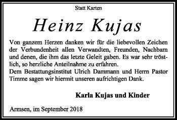 Traueranzeige von Heinz Kujas von SYK