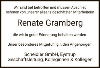 Traueranzeige von Renate Gramberg von SYK