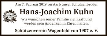 Traueranzeige für Hans Joachim Kuhn vom 13.02.2019 aus SYK