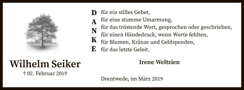 Traueranzeige für Wilhelm Seiker vom 02.03.2019 aus SYK