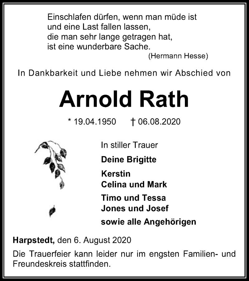 Todesanzeige von  Arnold Rath