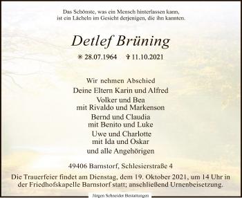 Traueranzeige von Detlef Brüning von SYK