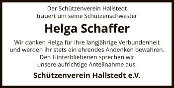 Traueranzeige von Helga Schaffer von SYK