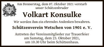 Traueranzeige von Volkart Konsulke von SYK