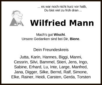 Traueranzeige von Wilfried Mann von SYK