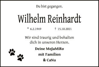 Traueranzeige von Wilhelm Reinhardt von SYK
