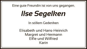 Traueranzeige von Ilse Segelken von SYK