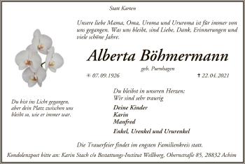 Traueranzeige von Alberta Böhmermann von SYK