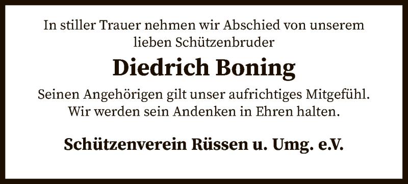 Traueranzeige für Diedrich Boning vom 05.05.2021 aus SYK