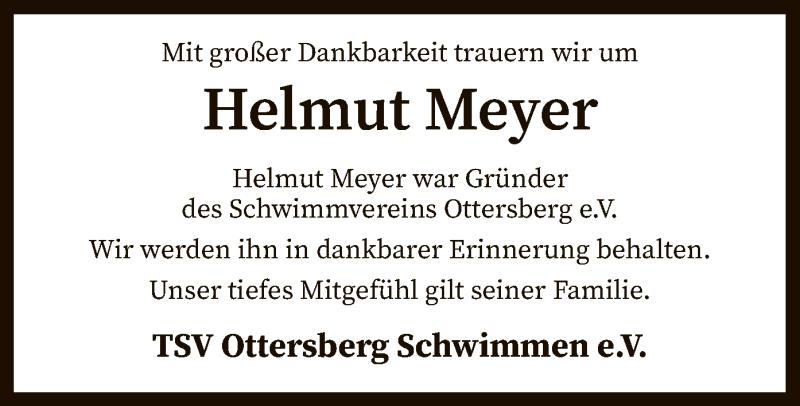 Traueranzeige für Helmut Meyer vom 04.05.2021 aus SYK