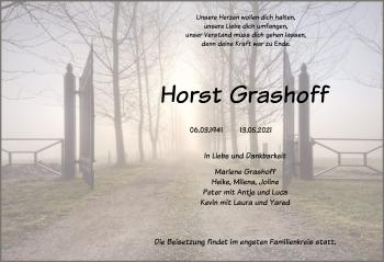 Traueranzeige von Horst Grashoff von SYK