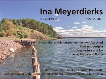 Traueranzeige von Ina Meyerdierks von SYK