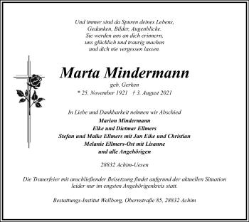 Traueranzeige von Maria Mindermann von SYK
