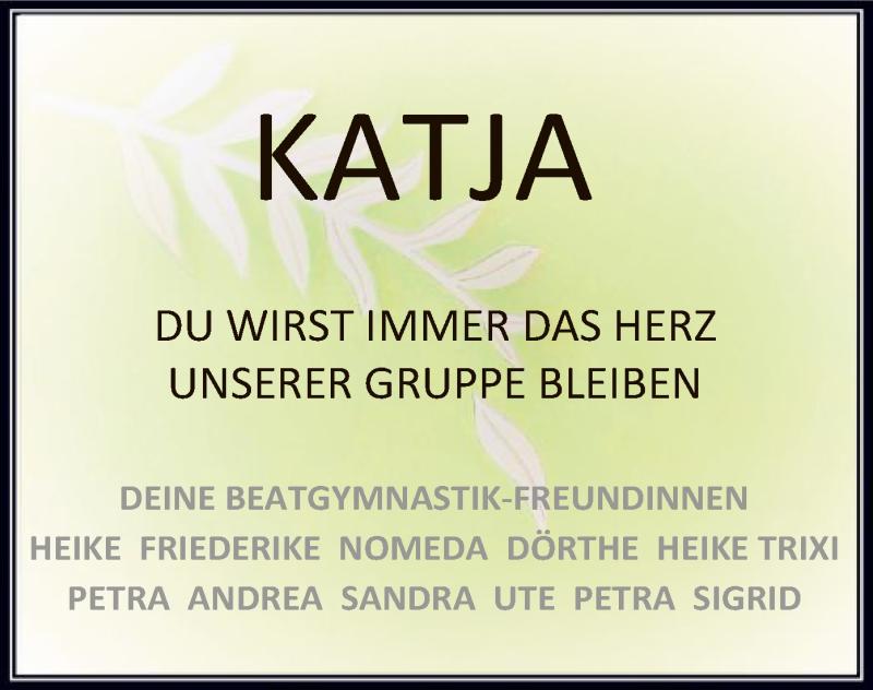Traueranzeige für Katja  vom 07.09.2021 aus SYK